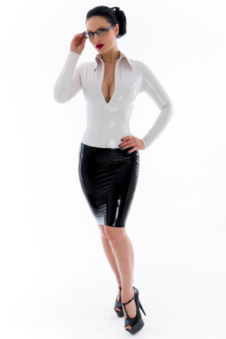 Latex Pencil Skirts 102